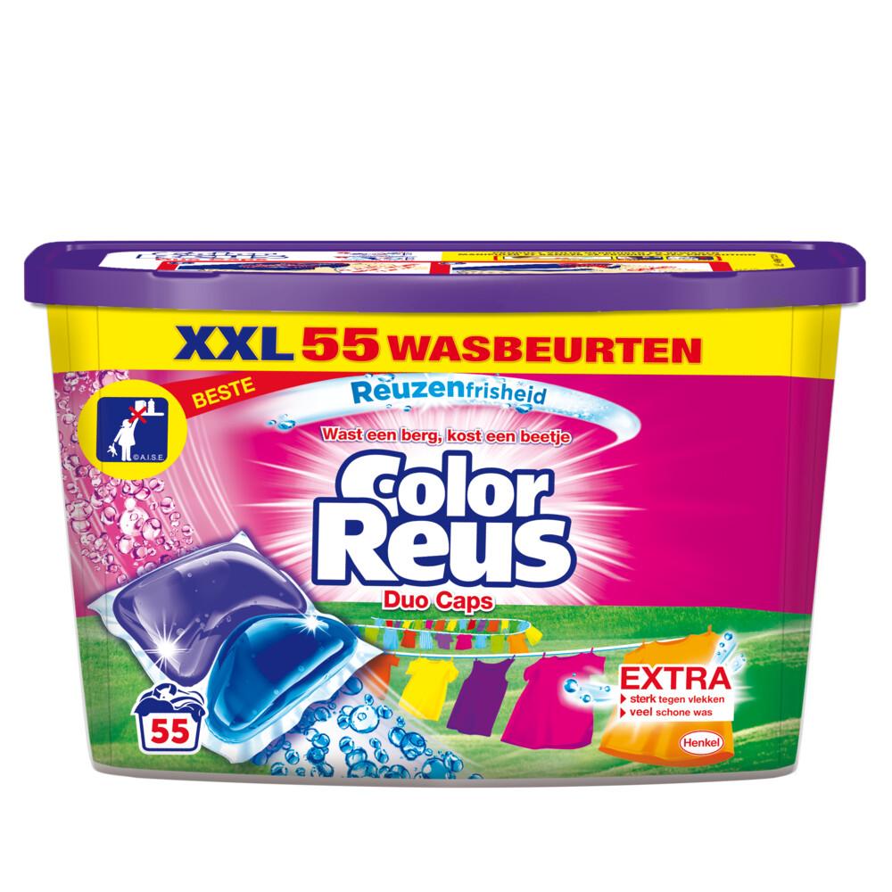 Witte Reus Duo-Caps Wasmiddel Color Reus 55 stuks