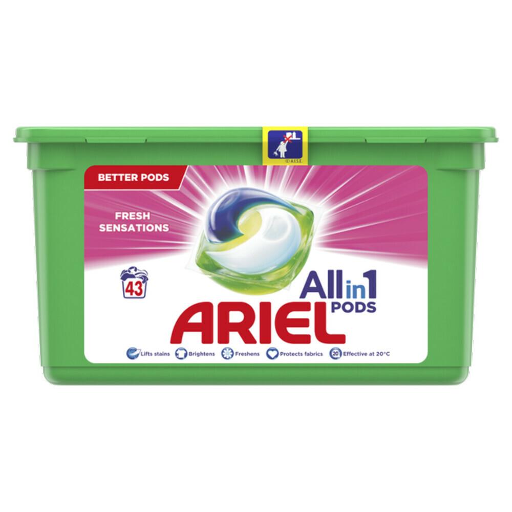 Ariel Wasmiddel Allin1 Pods Fresh Sensations Pink 43 stuks