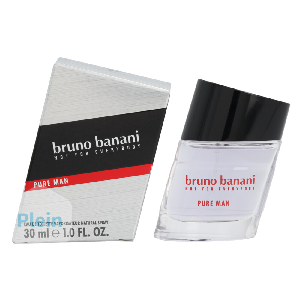 Bruno Banani Pure Man Eau de Toilette (EdT) 30 ml grau, silber
