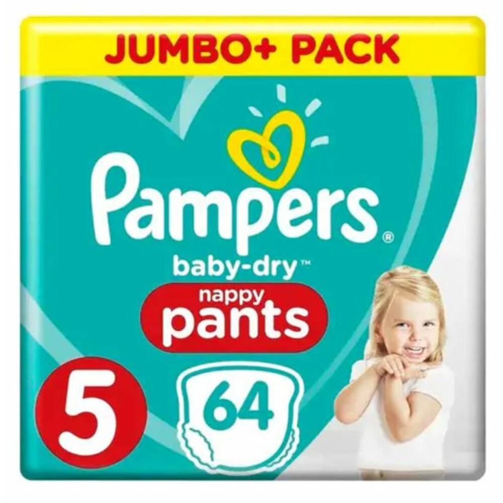Pampers Broekjes Baby Dry Pants Maat-5 Junior 11-18kg Jumbo Plus Pack