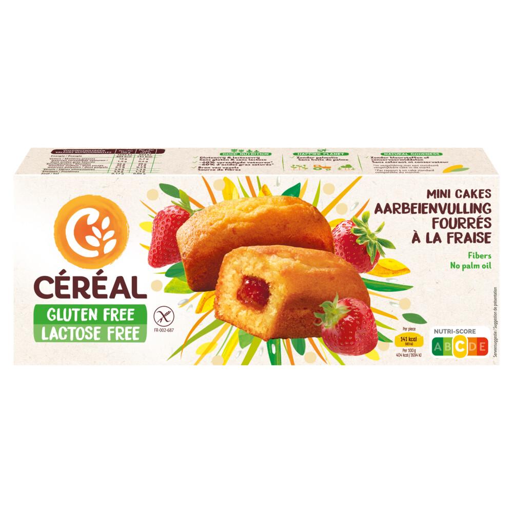Cereal Gluten- En Lactosevrij Cakeje Aardbei 210gr