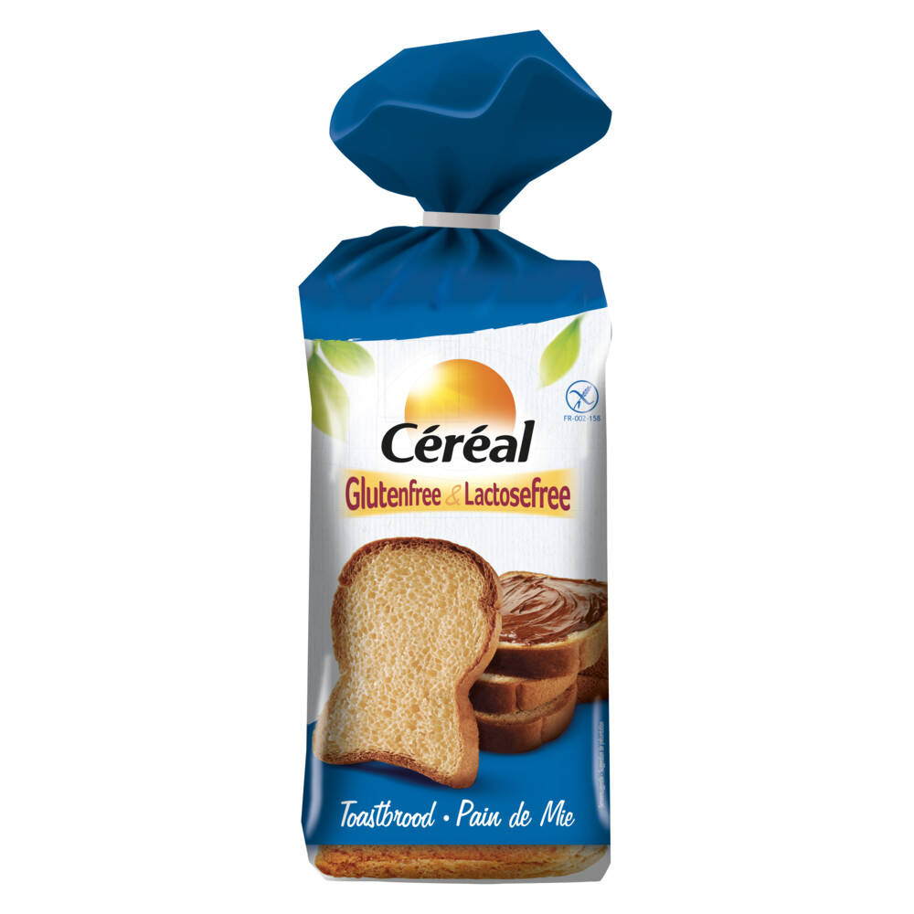Cereal Glutenvrij en Lactosevrij Brood Toast 350gr