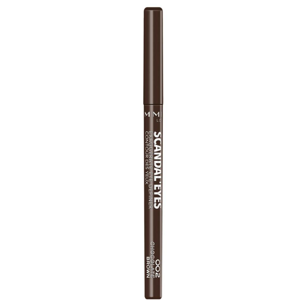 3x Rimmel London Eyeliner Exaggerate Full Colour eye definer 002 Chocolate Brown