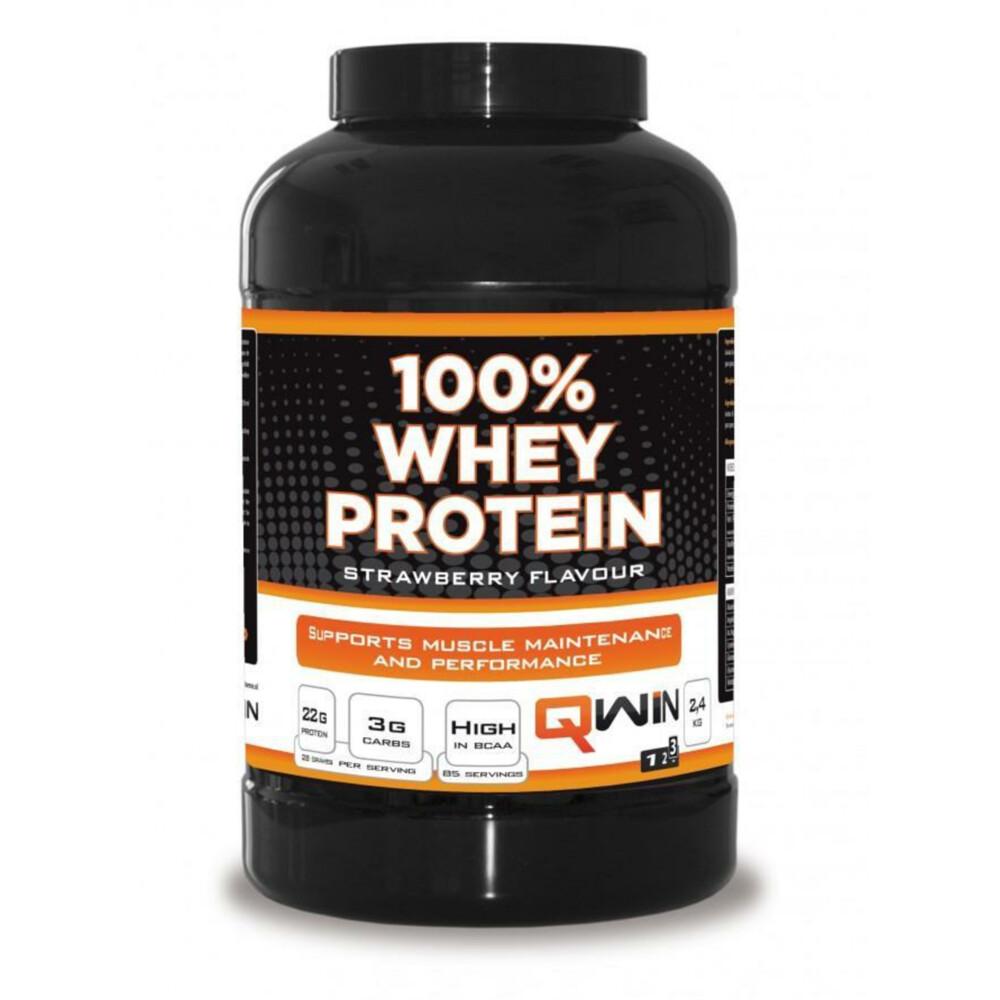 qwin 100% whey protein strawbr 2400gr