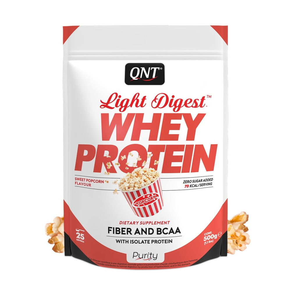 QNT Purity Line Light Digest Whey Protein 500 gram Sweet Popcorn