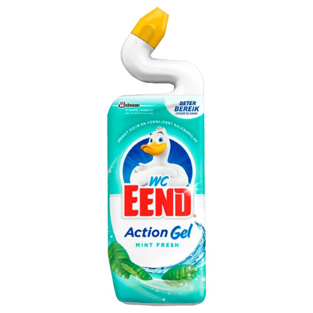 Wc Eend Toiletreiniger Action Gel Mint Fresh (750ml)