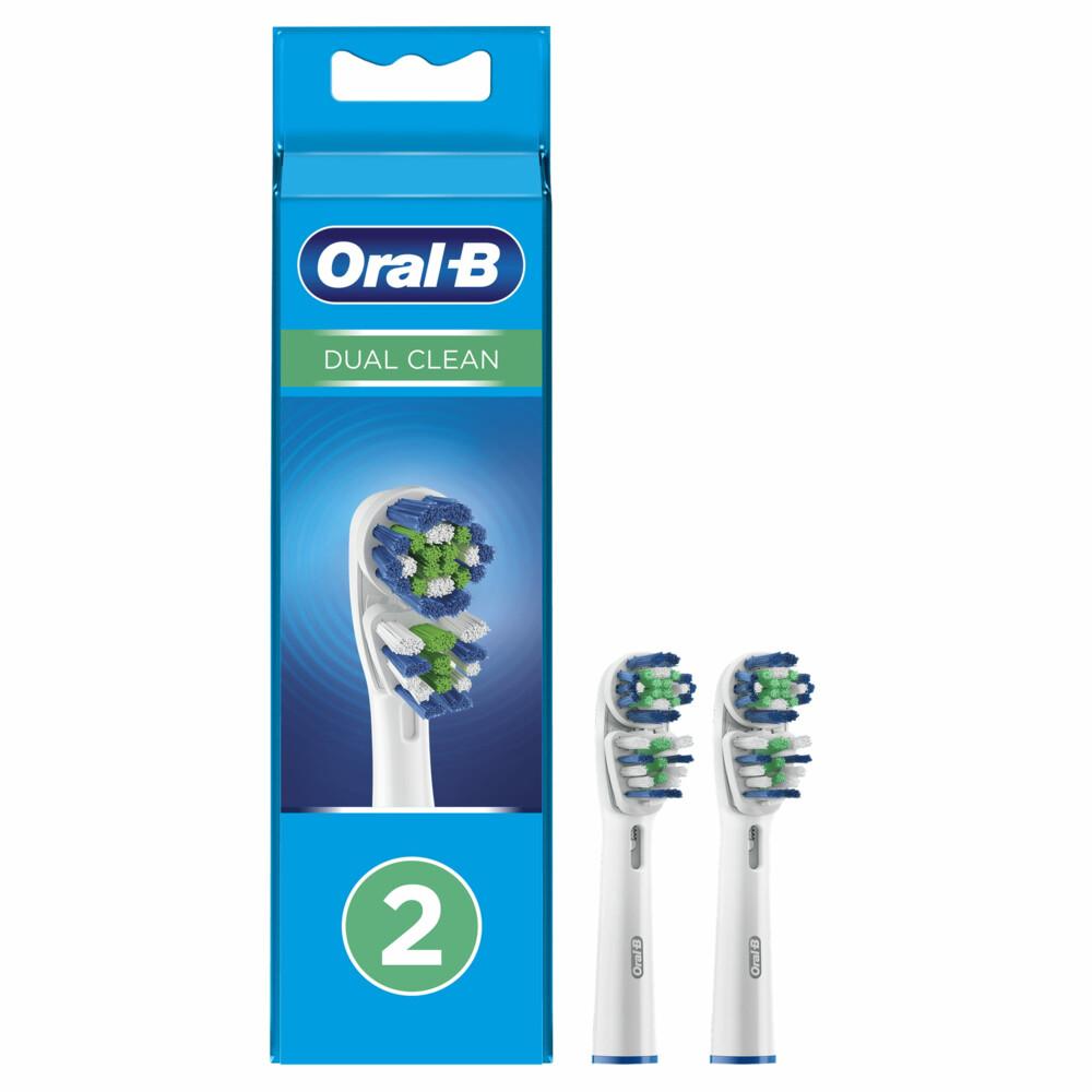 Oral B Opzetborstels Dual Action Eb 417-2 2stuks