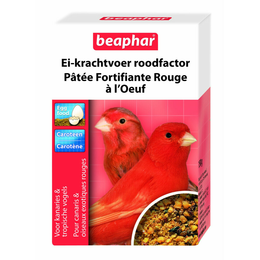 Beaphar ei krachtvoer kanarie rood 150 grei krachtvoer kanarie rood van beaphar dient als extra voeding naast ...