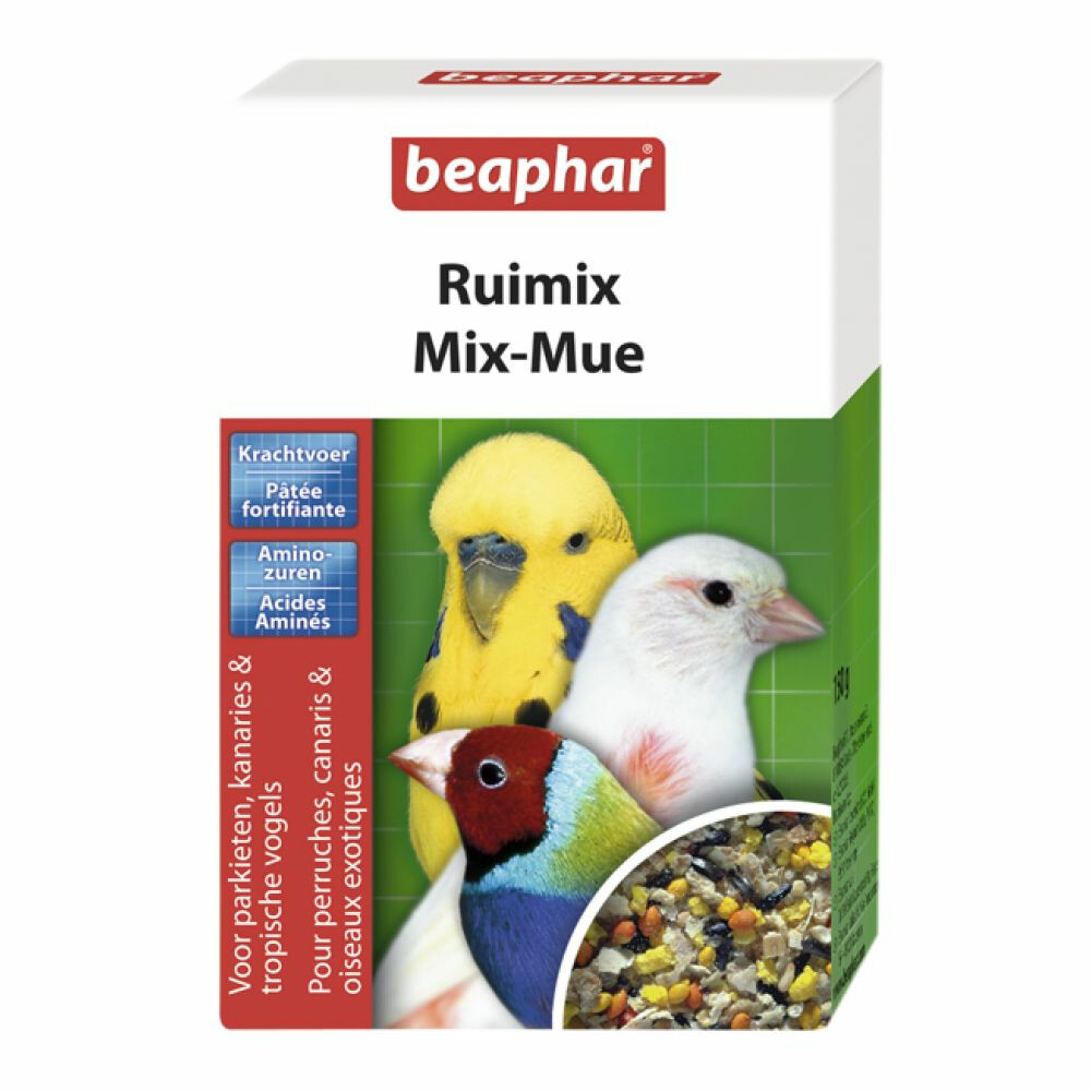 Beaphar ruimixaanvullend diervoeder voor parkieten, kanaries en tropische vogels. beaphar ruimix zorgt voor ...