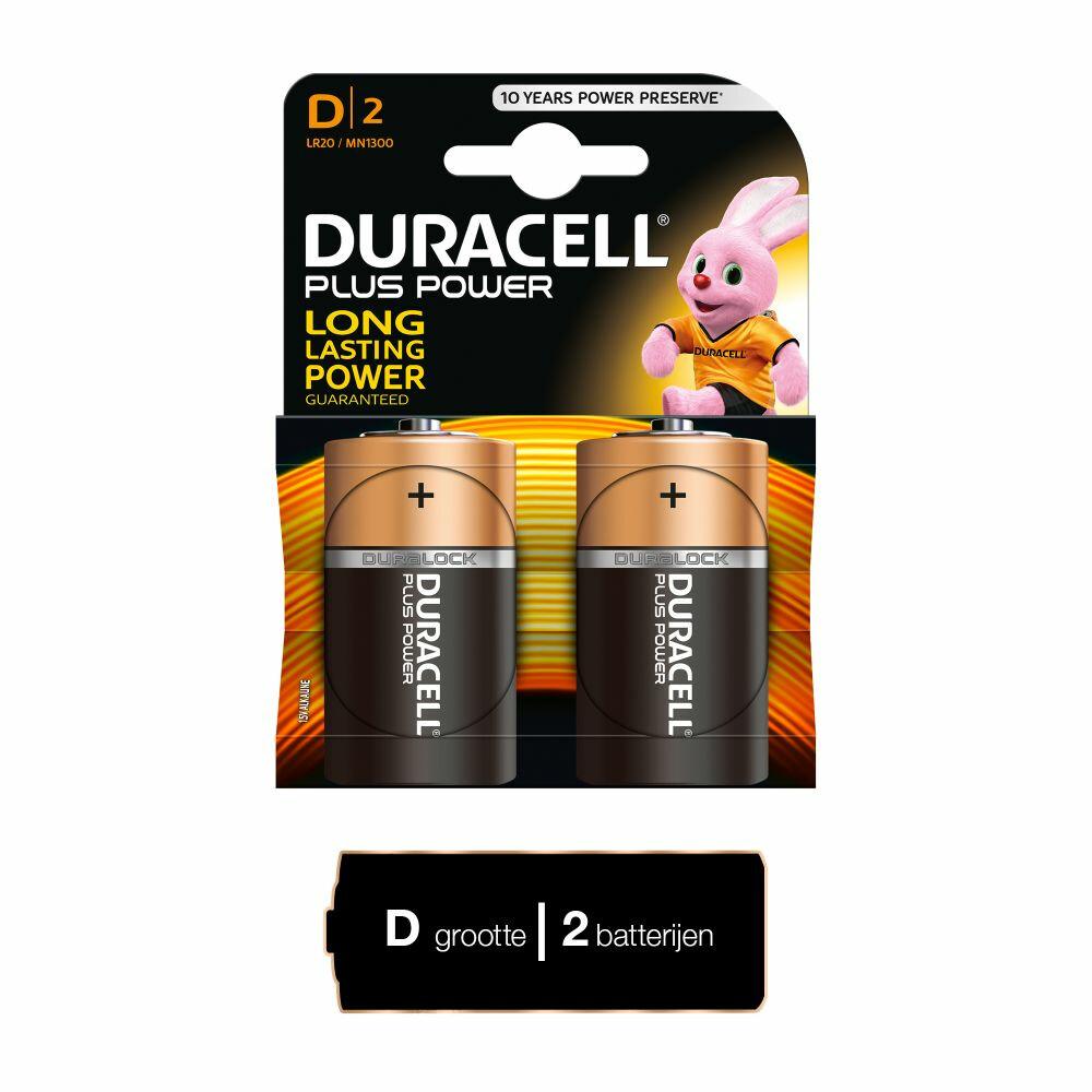 Duracell Batterij Type-D LR20 mn1300 2stuks