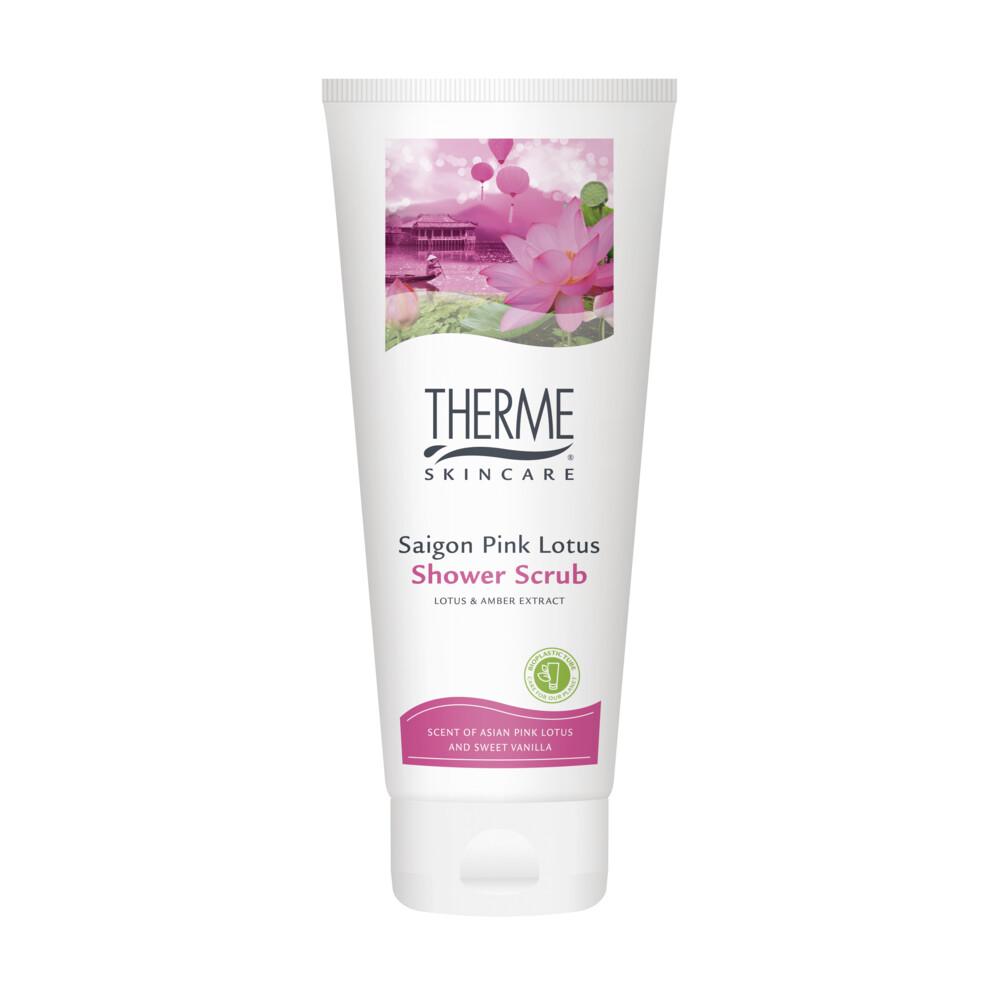 6x Therme Shower Scrub Saigon Pink Lotus 200 ml