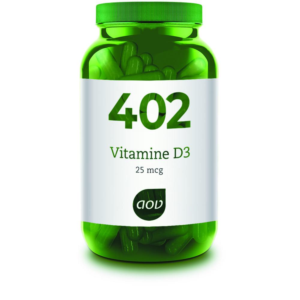 AOV Voedingssupplementen 402 Vitamine D3 25 mcg 60 capsules