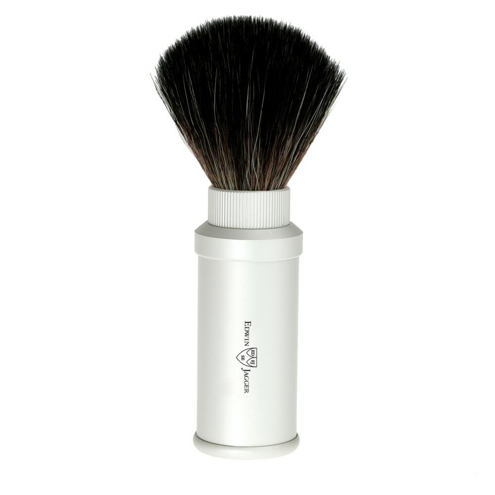 Edwin Jagger Scheerkwast Travel Fibre hair Aluminium