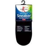 Lucovitaal Bamboe Sneakersok zwart maat 43-46