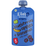 Ella's kitchen Knijpzakje 4+ m Blauwe Bes, Appel, Banaan