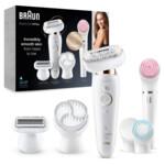 Braun Silk-épil 9 Flex 9-100 Beautyset Wit/Goud Epilator Met Flexibele Kop