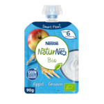 Nestle NaturNes Bio Knijpfruit 6+ mnd Appel, Granen
