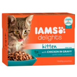 Iams Delights Kitten Kip in Saus