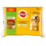 Pedigree Pouch Kip  Rund In Saus 4pack