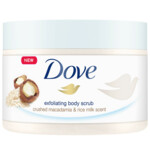Dove Body Scrub Macadamia & Rice Milk