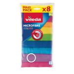 Vileda Colors Microvezeldoek  8 Stuks