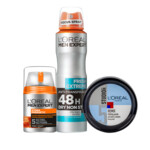 L'Oréal Men Expert Dagcrème, Deodorantspray en Styling Paste Pakket