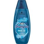 Schwarzkopf Men Shampoo 3 in 1 Hair-Body-Face Sea Minerals + Aloe Vera