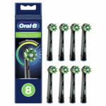 Oral-B Opzetborstels CrossAction Black   8 stuks