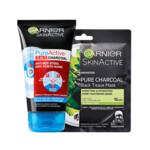 Garnier PureActive Charcoal 3in1 Gezichtsreiniger & Gezichtsmasker Pakket