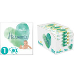 Pampers Harmonie Luiers Maat 1 en Billendoekjes Pure Protection Coconut Pakket