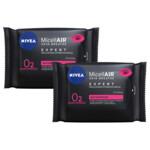 2x Nivea MicellAIR Skin Breathe Professional Reinigingsdoekjes