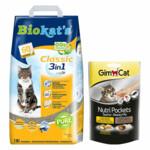 Biokat's Classic & GimCat Nutri Pockets Taurine & Beauty Pakket