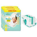 Pampers Premium Protection Maat 1 216 luiers en Aqua Pure 864 Billendoekjes Pakket