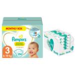 Pampers Premium Protection maat 3 204 luiers en Aqua Pure 864 billendoekjes Pakket