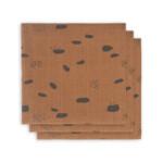 Jollein Hydrofiel Multidoek Small 70x70cm Spot Caramel  3 stuks
