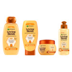 Garnier Loving Blends Honing Goud Shampoo, Conditioner, Haarmasker & Leave-in crème Pakket