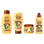 Garnier Loving Blends Avocado Olie en Karité Boter Shampoo, Conditioner, Haarmasker & Leave-in crème Pakket