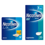 Nicotinell Pleisters Stap 3 en Zuigtabletten 1mg Pakket