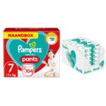 Pampers Baby-Dry Pants maandbox maat 7 104 luierbroekjes en Aqua Pure 864 billendoekjes Pakket