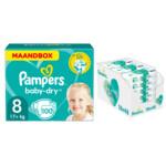 Pampers Baby-Dry maandbox maat 8 100 luiers en Aqua Pure 864 billendoekjes Pakket