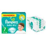 Pampers Baby-Dry maandbox maat 7 112 luiers en Aqua Pure 864 billendoekjes Pakket