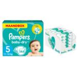 Pampers Baby-Dry maandbox maat 5 144 luiers en Aqua Pure 864 billendoekjes Pakket
