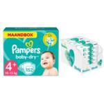 Pampers Baby-Dry maandbox maat 4+ 152 luiers en Aqua Pure 864 billendoekjes Pakket