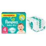 Pampers Baby-Dry maandbox maat 4 174 luiers en Aqua Pure 864 billendoekjes Pakket