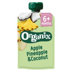 Organix Knijpfruit 6+m Appel Ananas & Kokos