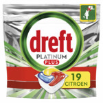 Dreft Platinum Plus All In One Vaatwastabletten Lemon