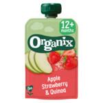 Organix Knijpfruit 12+m Appel Aardbei & Quinoa