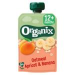 Organix Knijpfruit 12+m Havermout Abrikoos & Banaan