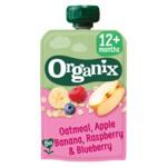 Organix Knijpfruit 12+m Haver Appel & Banaan