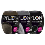 Dylon Textielverf - Intense Black, Smoke Grey & Espresso Brown Pakket